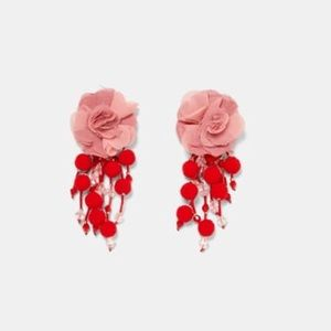 EARRINGS WITH FABRIC 💐 🌺 FLOWERS